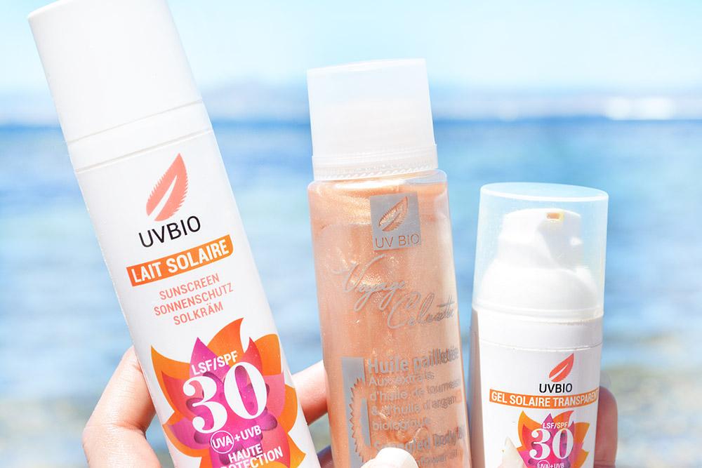 Mes produits pour le soleil UVbio